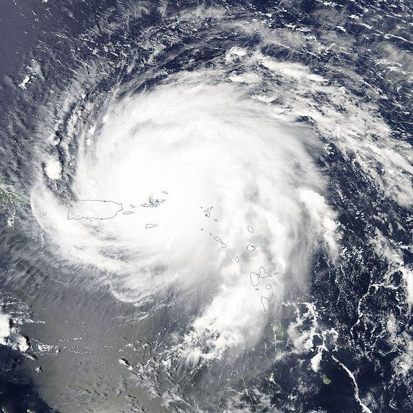 Image via NASA Aqua/Modis satellite view of Hurricane Irma on 06 September 2017