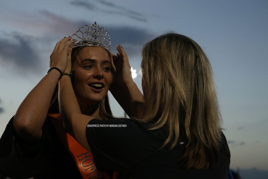 "Homecoming queen senior Kendall Walsh is crowned during halftime. ""Being queen is almost like an honor,"