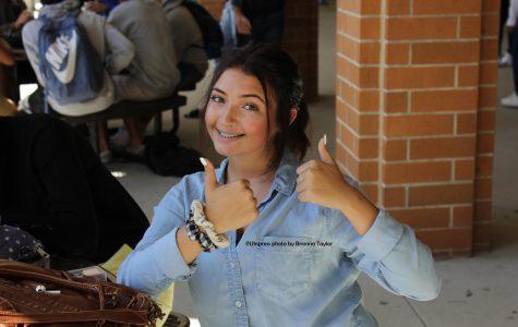 Sophomore Madison Buckley prefers using scrunchies over elastic hair-ties.