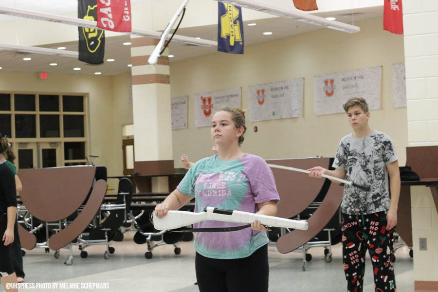 Spin, toss, compete: Color guard becomes Winter guard