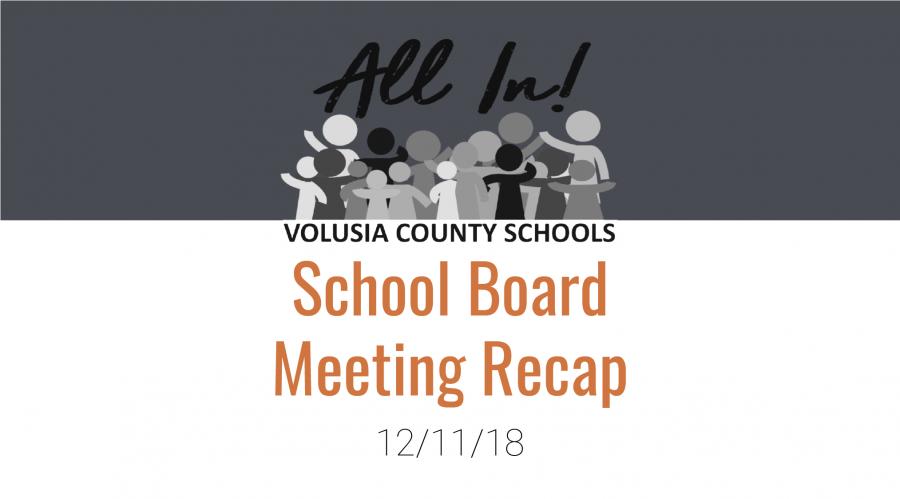 School Board Meeting 12/11/18 Recap