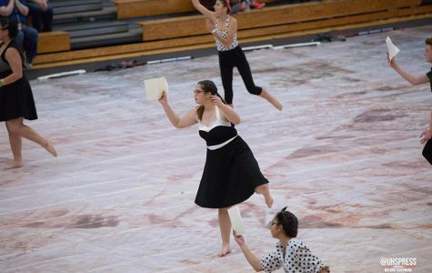 Dancing to 'A Letter to You': the winterguard premiere show