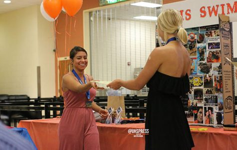 From swimming to eating, swim team holds their annual banquet